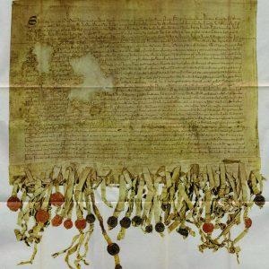 Doobel o the 'Tyninghame' (1320 A.D.) copy o the Scrieve fae Arbroath.