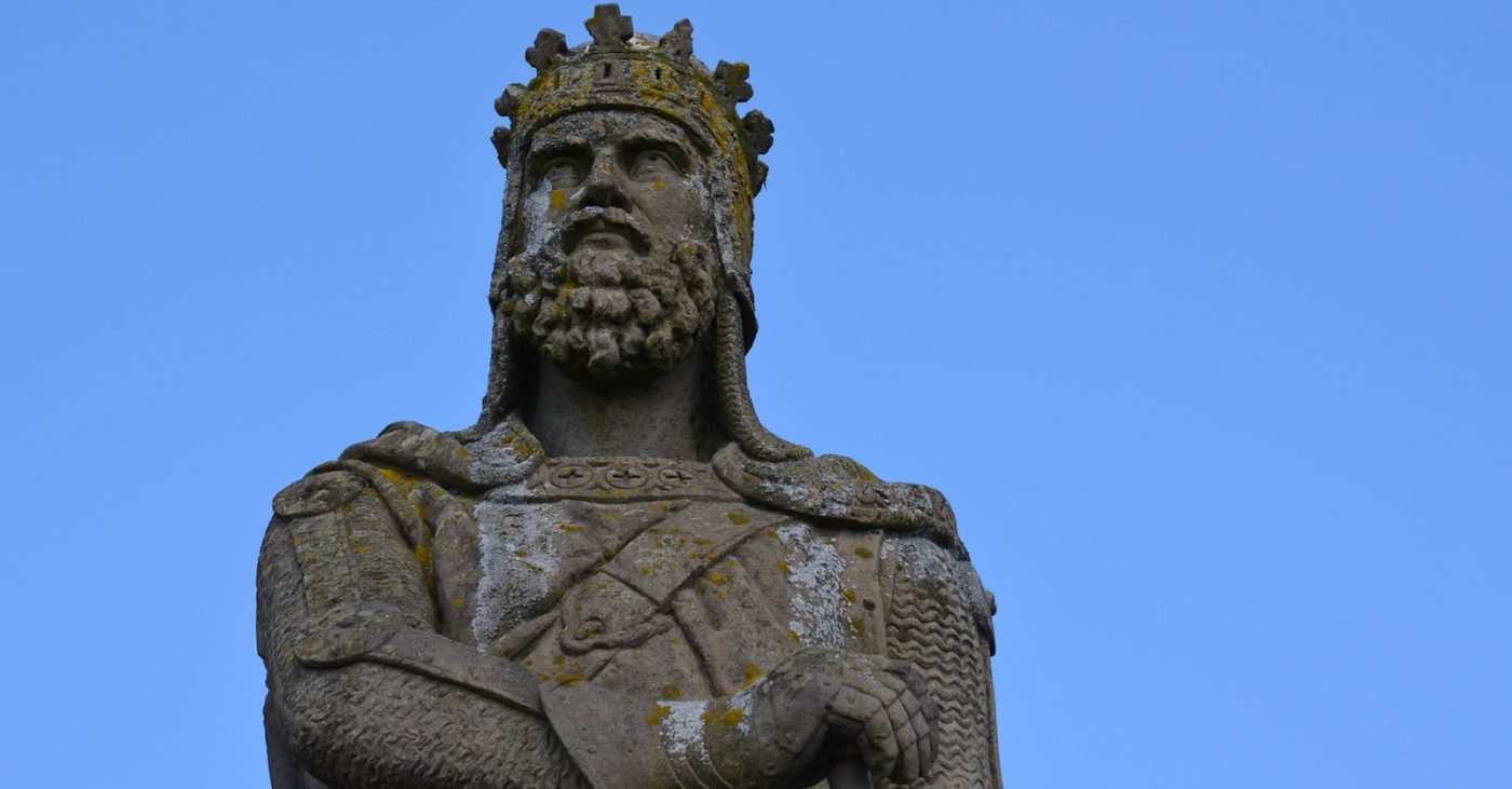 Statue o Robert the Bruce, Stirlin Castle, Stirlin, Scotland