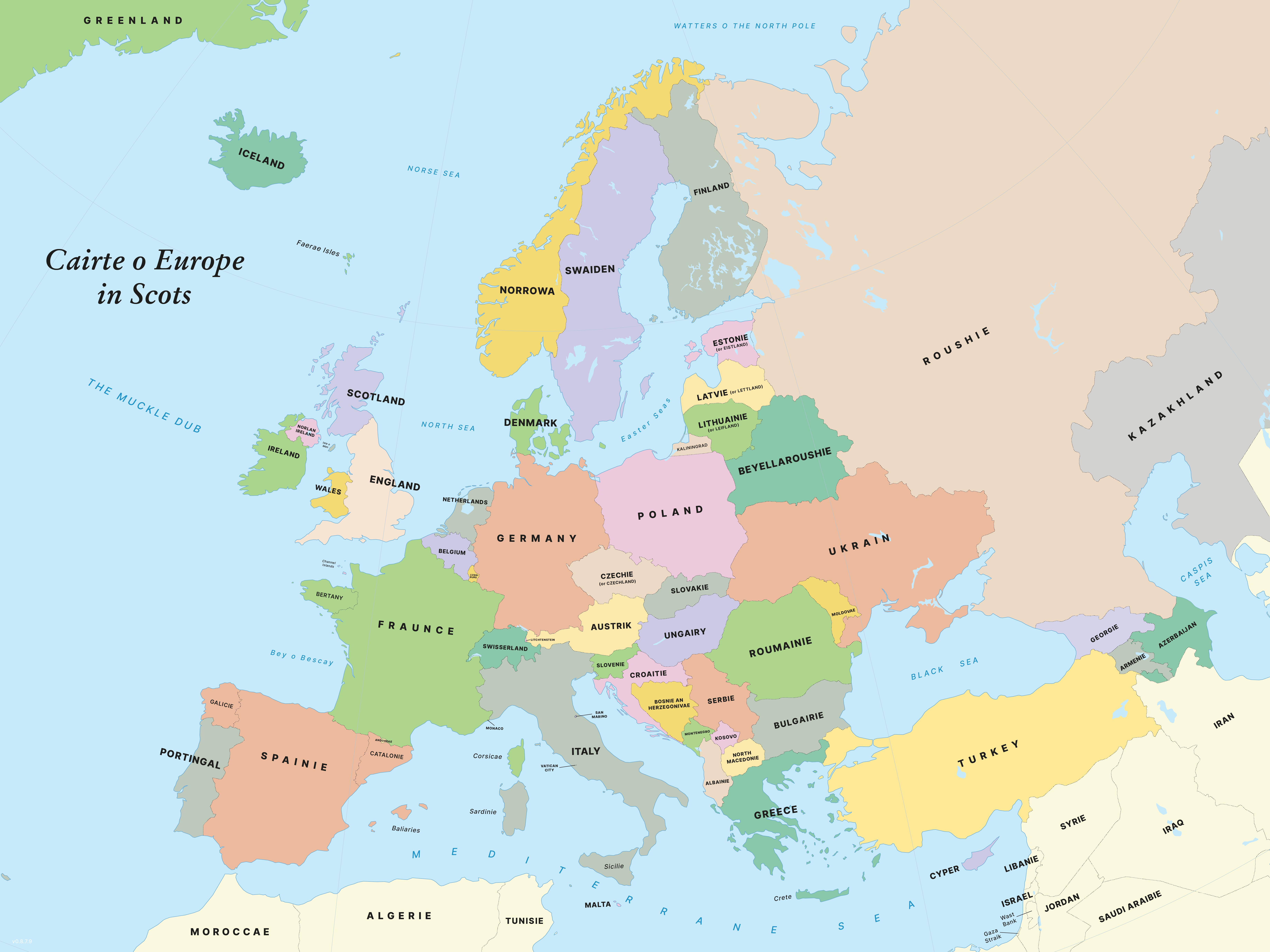 Scots cairte o Europe