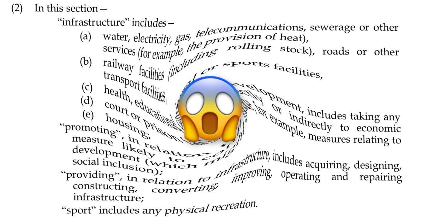 A screenshot o the Internal Mercat Bill wi a scream emoji ower it